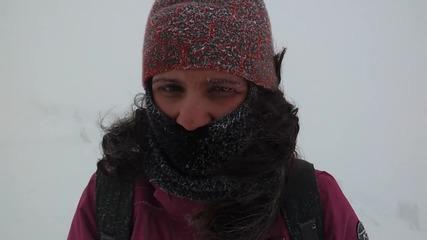 Снежна Виелица под Връх Мусала 25.02.2012