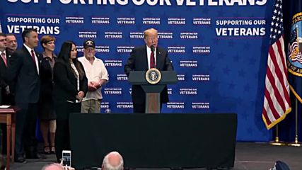 USA: Trump signs spending bills, biggest veteran budget ever