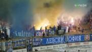 Феновете на Левски създадоха феерична обстановка