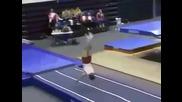 Страхотно гимнастическо изпълнение