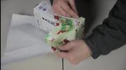 Японец показва брилянтен начин за опаковане на подарък