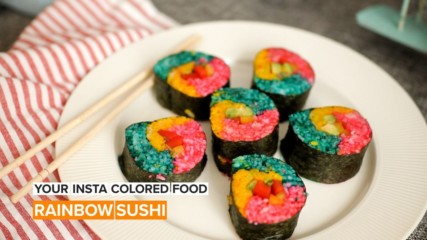 Creating the ultimate Insta-worthy sushi rolls with a pop of color