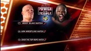 Kane vs Mark Henry (arm Wrestling Match) 6_20_2011