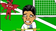 Анимации за световното: Италия 0 - 1 Уругвай
