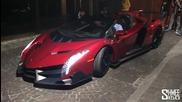 Изкарване на звяра: Lamborghini Veneno Roadster €3.3m Hypercar