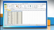Microsoft® Excel 2010: How to create a Pivot Table or Chart report on Windows® 7?