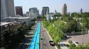Супер дълга надуваема водна пързалка
