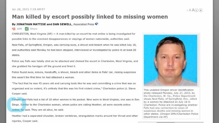 Man Killed by Escort Possibly Linked to Missing Women