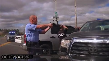 Ето как действат щатските полицаи при задържането на автобеглец !