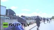 USA: Pepper spray and arrests dog Black Lives Matter demo in Austin