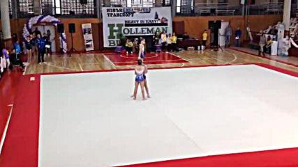 Христова, Гергова и Рогова - тройка жени, спортна акробатика