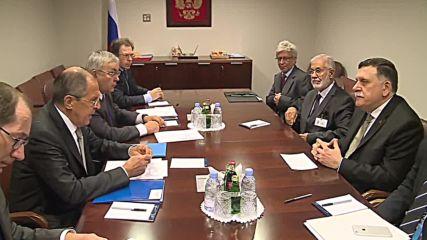 UN: Lavrov meets leader of UN-backed Libyan govt. on UNGA sidelines