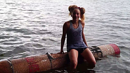 12 year-old LOG-ROLLING sensation shows off her new skills