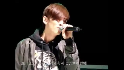 [fancam] 081029 Shinee Sad Key - - singing Shinees In My Room