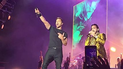 Maluma Ricky Martin Perform Vente Pa Ca At The Forum,los Angeles-7.04.2018