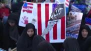 Iran: US flags burn as Tehran students mark 1979 US Embassy takeover
