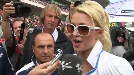 Motogp Round 5 - Interview with Paris Hilton at the Gran Premi Aperol de Catalunya