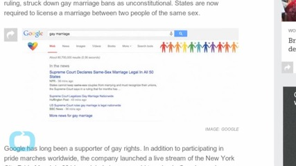 Google This For a Rainbow Surprise Celebrating Gay Marriage