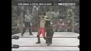 Jeff Hardy & Aj Styles & Ron Killings Vs Team Canada