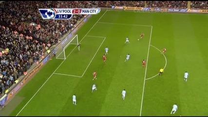 11.04.2011 Ливърпул 2 - 0 Манчестър Сити гол на Дирк Кайт