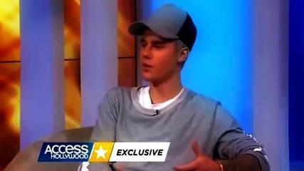 Justin Bieber говори за Selena Gomez и неговата първа любов (4.11.2015г.)
