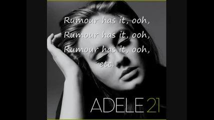 Adele-rumour has it (with lyrics)