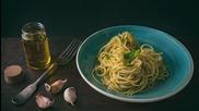 Спагети с песто от аспержи