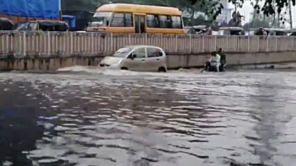 India: Traffic disrupted as Mumbai flooded after heavy rain