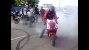 Honda Cbr 250rr Burnout