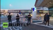 Пожар на най-голямото италианско летище