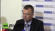 Ukraine: OSCE's Hug reports on protests and Donetsk shelling