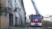 Пожар в старото военно училище в Търново