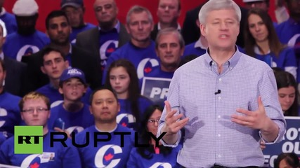 Canada: PM Harper attends rally hosted by Rob Ford