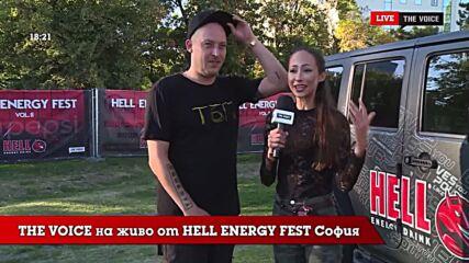 THE VOICE LIVE от HELL ENERGY FEST 2021: WOSH MC преди началото [06]