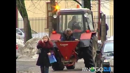 Борба с леда по български, хората се учат от нас - Смях