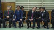 Japan: Putin and Abe watch judo display in Tokyo