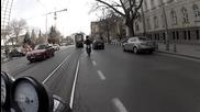 скутер срещу мотор - трафик