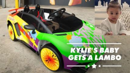 Stormi Webster gets coolest custom glow in the dark Lamborghini