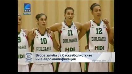 Втора загуба за баскетболистките ни в евроквалификациите