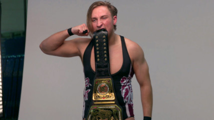 New WWE United Kingdom Champion Pete Dunne gets photographed with his title: WWE.com Exclusive, May 20, 2017