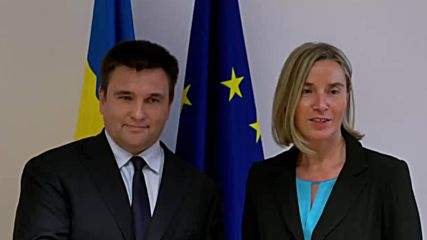 Belgium: EU's Mogherini holds bilateral meeting with Ukraine's Klimkin