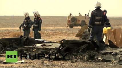 Egypt: Russian EMERCOM units continue to search flight 7K9268 crash site