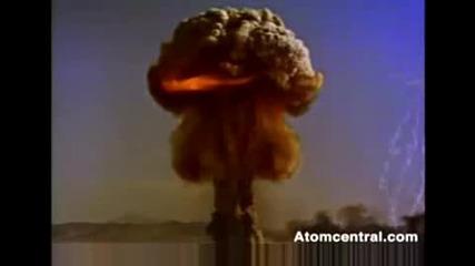 кадри на атомна бомба