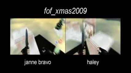 janne bravo vs haley on fof xmas2009