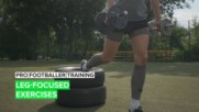 Pro Footballer Training: Leg-Focused Exercises
