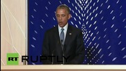 USA: Obama becomes third president to address an audience at a synagogue