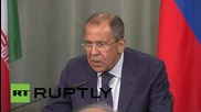 Russia: Moscow-Tehran ties are 'developing dynamically' - FM Lavrov