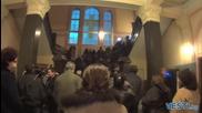 Стотици миряни под дъжда посрещнаха част от мощите на Св. Климент Охридски