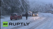 Germany: Unexpected snow storm coats Taunusstein roads, causing chaos