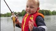 Радостта от първата хваната Рибка!